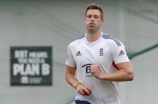England's Boyd Rankin during the nets session at the Sydney Cricket Ground, Australia.