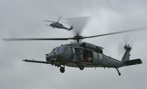USAF HH-60G Pave Hawk helicopter of the same type as one which crashed near Salthouse on the Norfolk coast