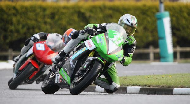 Vauxhall North West Supertwins race runner up James Hillier in action in 2013. Pic Stephen Davison