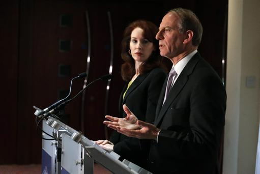 Dr Richard Haass and Professor Meghan O'Sullivan pictured at the Stormont Hotel in Belfast