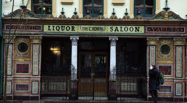 Northern Ireland's best known pub - the Crown Bar in Belfast - has had to close its doors. Pic Matt Mackey