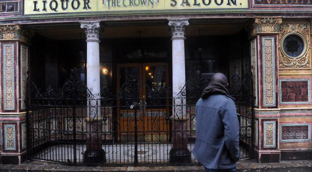 Northern Ireland's best known pub - the Crown Bar in Belfast - has had to close its doors Pic Colm Lenaghan /Pacemaker