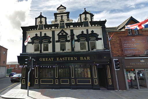 CLOSED: The Great Eastern Bar, Newtownards Road, East Belfast. Photo Google Street View