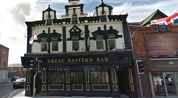 The Great Eastern Bar, Newtownards Road, east Belfast. Photo Google Street View