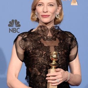 BEVERLY HILLS, CA - JANUARY 12: Actress Cate Blanchett, winner of Best Actress in a Motion Picture - Drama for 'Blue Jasmine,' poses in the press room during the 71st Annual Golden Globe Awards held at The Beverly Hilton Hotel on January 12, 2014 in Beverly Hills, California. (Photo by Kevin Winter/Getty Images)