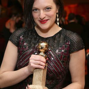 LOS ANGELES, CA - JANUARY 12: Elisabeth Moss attends HBO's Post 2014 Golden Globe Awards Party at Circa 55 Restaurant on January 12, 2014 in Los Angeles, California. (Photo by Mike Windle/Getty Images)