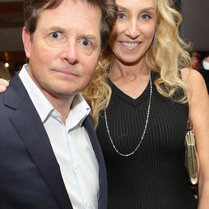 LOS ANGELES, CA - JANUARY 12: Michael J. Fox and Tracy Pollan attend HBO's Post 2014 Golden Globe Awards Party at Circa 55 Restaurant on January 12, 2014 in Los Angeles, California. (Photo by Mike Windle/Getty Images)