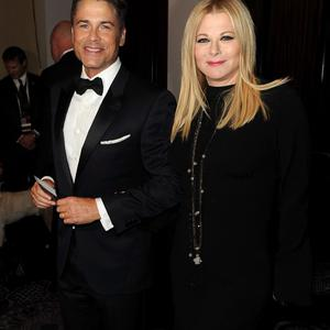 BEVERLY HILLS, CA - JANUARY 12: Actor Rob Lowe and Sheryl Berkoff attend the 71st Annual Golden Globe Awards cocktail party held at The Beverly Hilton Hotel on January 12, 2014 in Beverly Hills, California. (Photo by Kevin Winter/Getty Images)