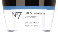 1. No7 Lift & Luminate Day Cream, 50ml, £23, Boots