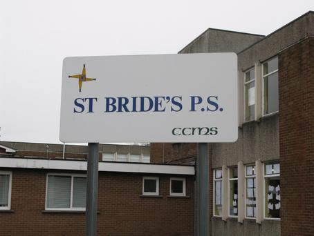 The teacher was taking a class from St Bride's to a nearby church when she fell