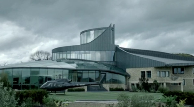 The 'Appledore' mansion pictured during the final episode of the BBC's Sherlock