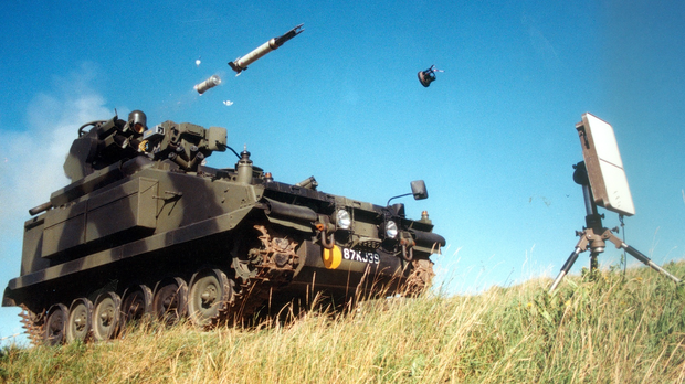 Thales: A firing of the Starstreak missile from the Armoured Starstreak system