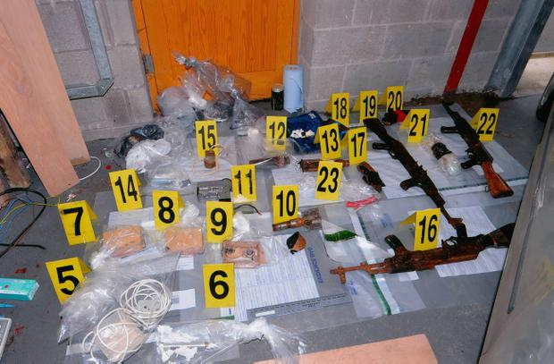 Weapons haul police found in Coalisland - including explosives, assault rifles and ammunition