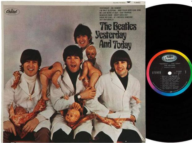 They should have known better: the controversial cover of the Beatles' 1966 album 'Yesterday and Today', released by Capitol in the US