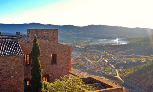 The view from the tower in Parador de Cardona. Photo by Claire Cromie