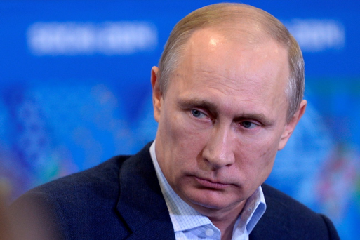 Vladimir Putin says gay people at the upcoming Winter Olympics in Russia must 'leave the children in peace'