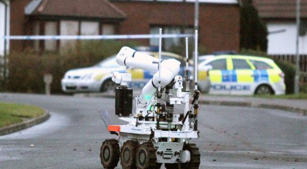 Bomb disposal experts declared the object a 'viable explosive type device'