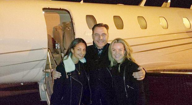 Amanda Holden, David Walliams, Alesha Dixon on their way to Belfast for Britains Got Talent
