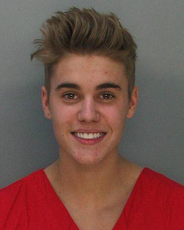Justin Bieber's mugshot released by Miami Beach Police