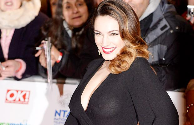 Kelly Brook arriving for the 2014 National Television Awards at the O2 Arena, London.