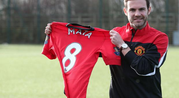 Manchester United's Juan Mata is unveiled at the Aon Training Complex, Manchester