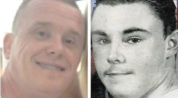GUN VICTIMS: Jason Carroll and Dean Johnson are believed to have been murdered by the gangster
