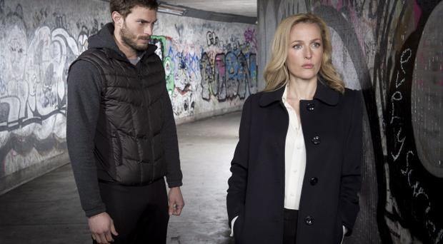 The Fall: Serial killer Paul Spector (Jamie Dornan) and DSI Stella Gibson (Gillian Anderson)