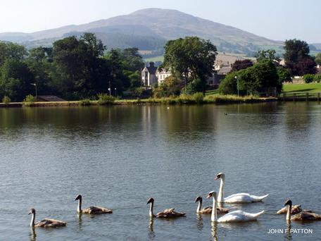 Bessbrook Mill pond with Camlough Mountain in the background. Pic John Patton