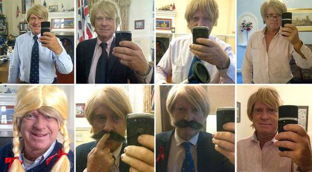 A flick through the MP's Twitter account reveals a treasure trove of self-snapped shots