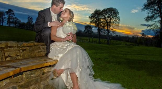 Joanne and Michael Beattie became engaged in August 2011 in Dublin while they were on a trip to the city to see a horse show.