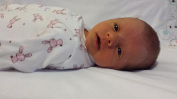 Matilda Rose Hilton weighed 6lb 0.5oz and measured 46cm when she was born at Lagan Valley Hospital