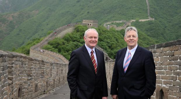 Martin McGuinness and Peter Robinson appear smiling and positive, as is their duty, when they go abroad to seek investment or meet foreign visitors – but the same standard of civility is not maintained at home