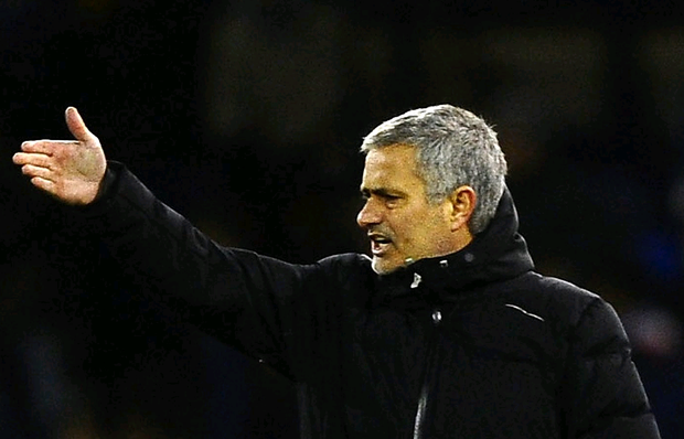 Manager Jose Mourinho of Chelsea on the touchline during the Barclays Premier League match between West Bromwich Albion and Chelsea at The Hawthorns on February 11, 2014 in West Bromwich, England. Photo by Laurence Griffiths/Getty Images