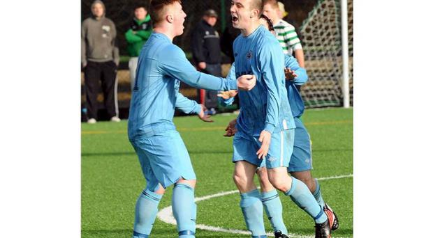 St Paul's celebrate making it to the quarter finals after knocking out holders Strathroy Harps
