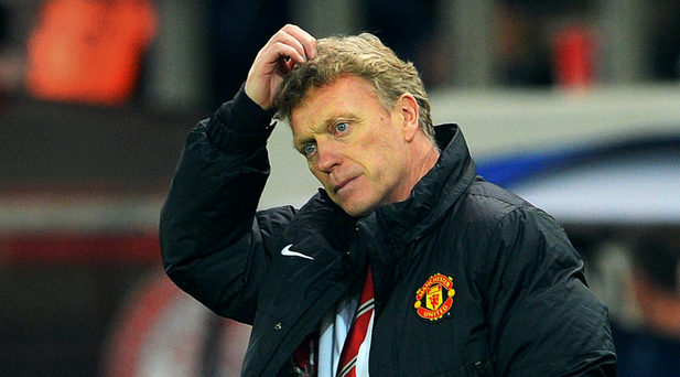 David Moyes' Manchester United mustered only two efforts on target against Greek side Olympiacos