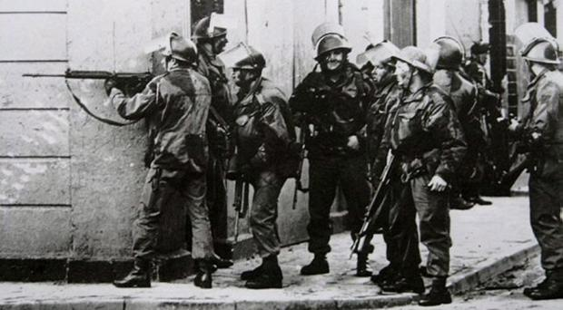 Soldiers during Bloody Sunday in 1972