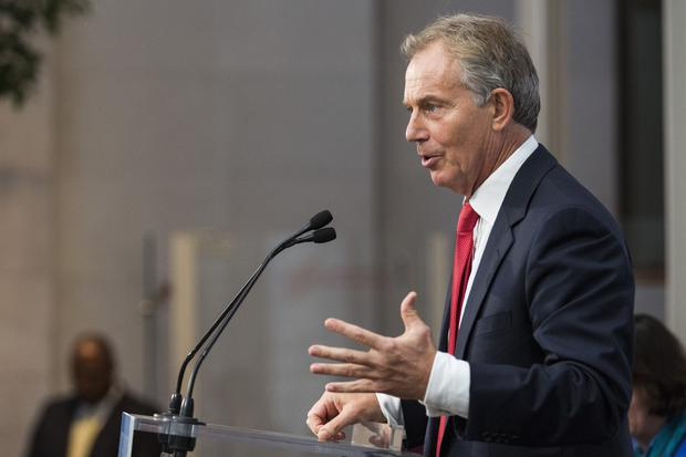 Former Prime Minister of the United Kingdom Tony Blair (pictured) was heavily criticised by First Minister Peter Robinson over the conduct of the previous Labour administration concerning the controversy over letters sent to more than 180 terror suspects informing them the authorities in the UK were not seeking them