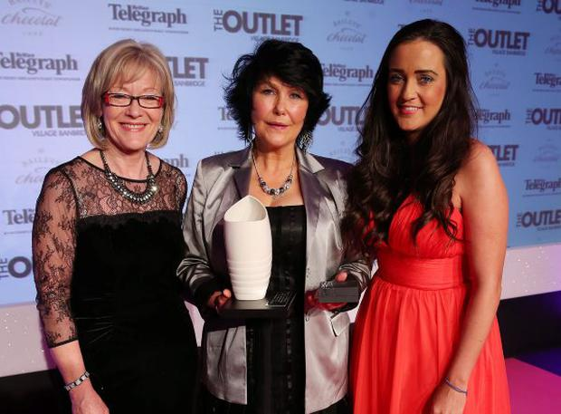 Inspirational Woman of the Year Margaret McGuckin, centre, with Gemma Bell, Diageo, and Wendy Austin, left