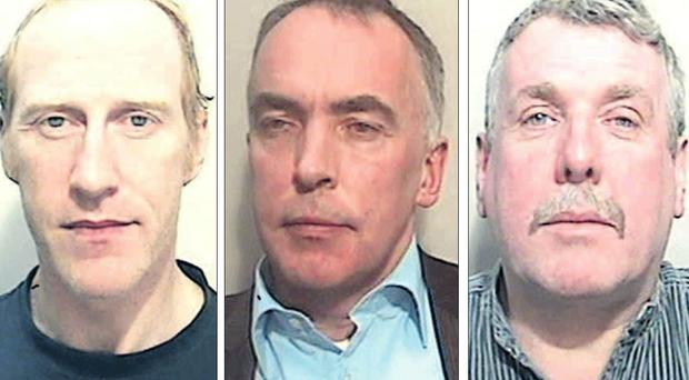 Former bank manager Peter Creegan, former solicitor Peter Brassil, and former financial adviser Damian Mallon have been caged