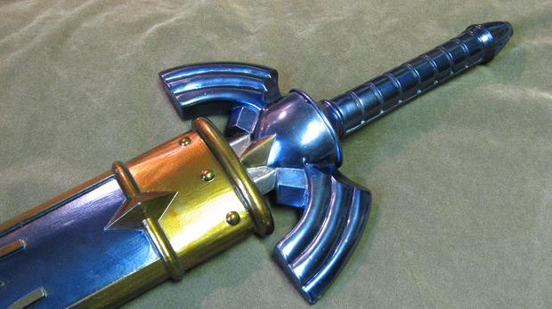 A man has been left in a serious condition after being stabbed by a replica sword from the video game series Zelda
