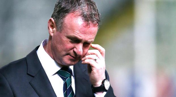 Northern Ireland manager Michael O'Neill during Wednesday night's International Friendly at the GSP Stadium, Nicosia