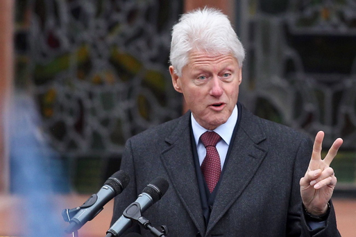 Bill Clinton last week told an audience that 'the past cannot be allowed to choke the future'