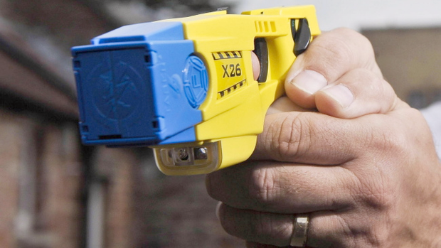 The PSNI said a Taser stun gun was seized in north Belfast