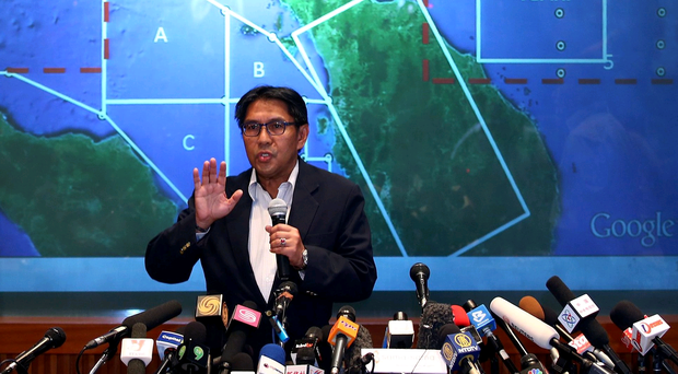 Dato' Azharuddin Abdul Rahman, director general of the Malaysian Department of Civil Aviation briefs the media over latest updates on missing Malaysia Airline MH370 on March 10, 2014 in Kuala Lumpur, Malaysia. (Photo by How Foo Yeen/Getty Images)