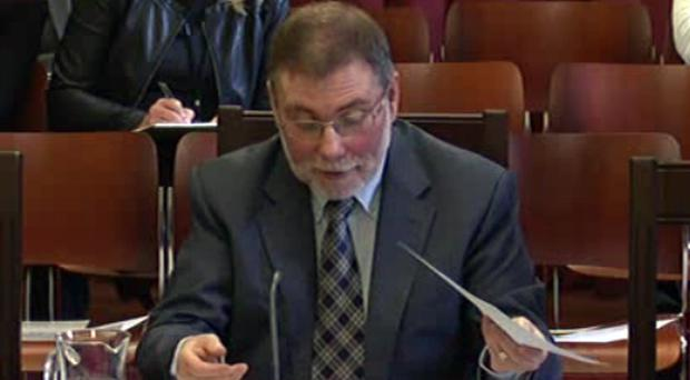 Nelson McCausland was appearing before a Stormont committee