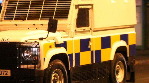 Police officers and a young family have escaped injury following a bomb attack in west Belfast