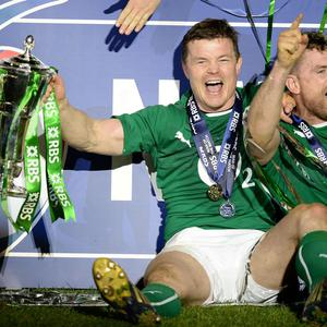 Ireland's Brian O'Driscoll afterthe Six Nations match at the Stade de France, Paris, France.