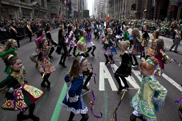 The Irish Dancing Music Association at a previous St Patrick's Day parade in New York
