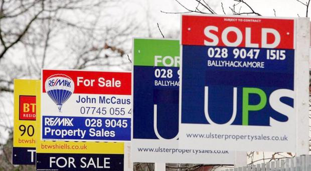 Belfast housing market slowdown...Properties for sale in east Belfast. The cooling of the Northern Ireland housing market could act as a catalyst for the return of ex-pats currently living and working elsewhere, property experts claimed today. PRESS ASSOCIATION Photo. Picture date: Thursday December 27, 2007. The Royal Institution of Chartered Surveyors believes rocketing house prices over the last couple of years had been impeding efforts to reverse the 'brain drain'. See PA story ULSTER Ex-pats. Photo credit should read: Paul Faith/PA Wire...A