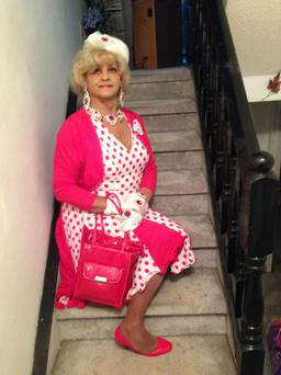 ALTER EGO: Ron Eberly, dressed up as Mz Rhonda, describes himself as 'Christ Drag Queen